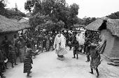 view Kple Kple masks dancers during a Goli performance, Kondeyaokro village, Ivory Coast digital asset: Kple Kple masks dancers during a Goli performance, Kondeyaokro village, Ivory Coast