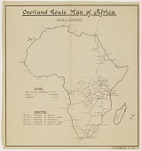 """view """"Overland Route Map of Africa"""" digital asset: """"Overland Route Map of Africa"""""""