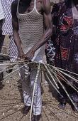 view Man weaving basket Nigeria digital asset: Man weaving basket Nigeria