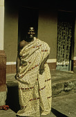 view Asante man wearing Adinkra cloth, Ghana digital asset: Asante man wearing Adinkra cloth, Ghana