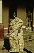 view Man Wearing Adinkra Cloth digital asset: Man Wearing Adinkra Cloth