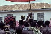 view Procession of paramount chief to shrine during ritual festival of Akwasidea, Akwamfi Festival, Shai Hills, Akwamfi, Ghana digital asset: Procession of paramount chief to shrine during ritual festival of Akwasidea, Akwamfi Festival, Shai Hills, Akwamfi, Ghana