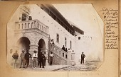 view Africans and European officials outside of government offices in the Cape Coast Castle digital asset: Africans and European officials outside of government offices in the Cape Coast Castle