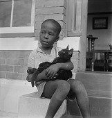 view Boy with Cat, Natal, South Africa digital asset: Boy with Cat