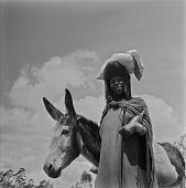 view Xhosa Woman With Her Donkey, Transkei digital asset: Transkei Woman With Her Donkey