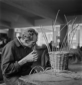 view Blind Man Weaving A Basket digital asset: Blind Man Weaving A Basket