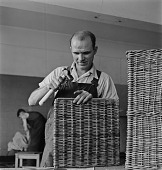 view Blind Man Making A Basket digital asset: Blind Man Making A Basket
