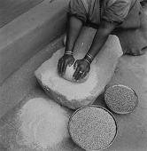 view Sotho Woman Grinding Corn digital asset: Sotho Woman Grinding Corn