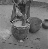 view Sotho Woman Making Kaffir Beer digital asset: Sotho Woman Making Kaffir Beer