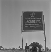 view Customs and Immigration sign at Ramatlabama, Botswana digital asset: Customs and Immigration sign at Ramatlabama, Botswana