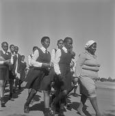 view Procession of school children, Mmabatho (South Africa) digital asset: Procession of school children, Mmabatho (South Africa)