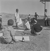 view School children painting outside, Mmabatho (South Africa) digital asset: School children painting outside, Mmabatho (South Africa)