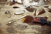 view Simon Ottenberg photographs digital asset: Ugi ekwo (pit-palm kernels), Mgbom village, Afikpo Village-Group, Nigeria