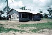 view Temporary residence of Simon and Phoebe Ottenberg, Public Works department, Afikpo Village-Group, Nigeria digital asset: Temporary residence of Simon and Phoebe Ottenberg, Public Works department, Afikpo Village-Group, Nigeria