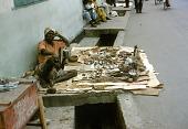 view Street vendor selling herbal remedies, Lagos, Nigeria digital asset: Street vendor selling herbal remedies, Lagos, Nigeria