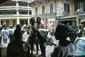 view Street scene outside Kingsway store, Lagos, Nigeria digital asset: Street scene outside Kingsway store, Lagos, Nigeria