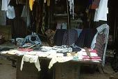 view Street vendor selling clothes, Lagos, Nigeria digital asset: Street vendor selling clothes, Lagos, Nigeria