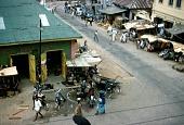 view Street scene outside Island Hotel, Lagos, Nigeria digital asset: Street scene outside Island Hotel, Lagos, Nigeria