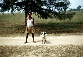 view John Chime with a sheep, Afikpo Village-Group, Nigeria digital asset: John Chime with a sheep, Afikpo Village-Group, Nigeria