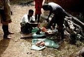 view Goat killed inside entrance to Ezi Agbo compound, Mgbom Village, Afikpo Village-Group, Nigeria digital asset: Goat killed inside entrance to Ezi Agbo compound, Mgbom Village, Afikpo Village-Group, Nigeria