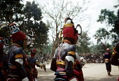 view Players with mma ji mask at the okonkwo dance, Oha Nwego Village, Okpoha Village-Group, Nigeria digital asset: Players with mma ji mask at the okonkwo dance, Oha Nwego Village, Okpoha Village-Group, Nigeria
