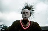 view Player wearing a female Ibibio mask at the Okumkpa performance, Mgbom village, Afikpo Village-Group, Nigeria digital asset: Player wearing a female Ibibio mask at the Okumkpa performance, Mgbom village, Afikpo Village-Group, Nigeria