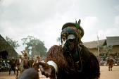 view Player wearing the okpesu umuruma mask at the Okumkpa performance, Mgbom village, Afikpo Village-Group, Nigeria digital asset: Player wearing the okpesu umuruma mask at the Okumkpa performance, Mgbom village, Afikpo Village-Group, Nigeria