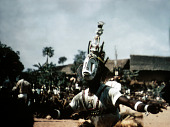 view Player wearing the opa nwa mask at the Okumkpa performance, Mgbom village, Afikpo Village-Group, Nigeria digital asset: Player wearing the opa nwa mask at the Okumkpa performance, Mgbom village, Afikpo Village-Group, Nigeria
