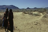 view Landscape with Samburu women : Barseloi, Kenya digital asset: Landscape with Samburu women : Barseloi, Kenya