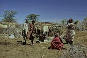 view Samburu elders in nkang (compound) : Barseloi, Kenya digital asset: Samburu elders in nkang (compound) : Barseloi, Kenya