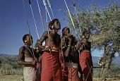 view Samburu moran dancing : Barseloi, Kenya digital asset: Samburu moran dancing : Barseloi, Kenya