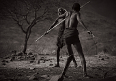 view Untitled 31, Two Suri Warriors Engaged in Ritual Combat, Suri Village, Omo Valley, Ethiopia digital asset: Untitled 31, Two Suri Warriors Engaged in Ritual Combat, Suri Village, Omo Valley, Ethiopia