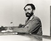 view Portrait of Haile Selassie (reprint) digital asset: Portrait of Haile Selassie, Seated at Desk (reprint)