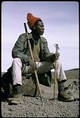 view Tanzanian guide with mountain climbing equipment, Mount Kilimanjaro, Tanzania digital asset: Tanzanian guide with mountain climbing equipment, Mount Kilimanjaro, Tanzania