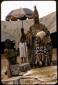 view Oba Ademuwagun Adesida II, the Deji (ruler) of Akure, in courtyard of Akure palace, Akure, Nigeria digital asset: Oba Ademuwagun Adesida II, the Deji (ruler) of Akure, in courtyard of Akure palace, Akure, Nigeria