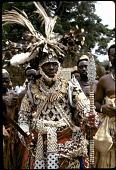 view Kuba Nyim (ruler) Kot a-Mbweeky III, in state dress, Mushenge, Congo (Democratic Republic) digital asset: Kuba Nyim (ruler) Kot a-Mbweeky III, in state dress, Mushenge, Congo (Democratic Republic)