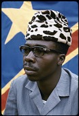 view Kuba Nyim (ruler) Kot a Mbweeky III in contemporary dress, Bungamba village, Congo (Democratic Republic) digital asset: Kuba Nyim (ruler) Kot a Mbweeky III in contemporary dress, Bungamba village, Congo (Democratic Republic)