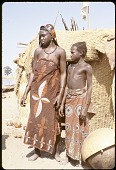 view Dendi girls with facial paint and scarifications, near Gaya village, Niger digital asset: Dendi girls with facial paint and scarifications, near Gaya village, Niger