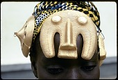 view Franc̦oise Dao Alouette wearing gold hair ornaments, Anna village, Ivory Coast digital asset: Franc̦oise Dao Alouette wearing gold hair ornaments, Anna village, Ivory Coast