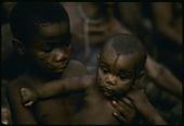 view Mbuti children with facial paint, Epulu, Ituri Forest, Congo (Democratic Republic) digital asset: Mbuti children with facial paint, Epulu, Ituri Forest, Congo (Democratic Republic)