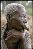 view Bira woman with nzudu ornament, near Bunia, Congo (Democratic Republic) digital asset: Bira woman with nzudu ornament, near Bunia, Congo (Democratic Republic)
