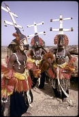 view Kanaga masqueraders during the Dama ceremony, near Sanga, Mali digital asset: Kanaga masqueraders during the Dama ceremony, near Sanga, Mali