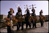 view Kanaga and dyomo masqueraders during the Dama ceremony, Sanga, Mali digital asset: Kanaga and dyomo masqueraders during the Dama ceremony, Sanga, Mali