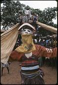 view Masked dancer during a Gelede performance, Meko, Nigeria digital asset: Masked dancer during a Gelede performance, Meko, Nigeria