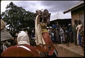 view Masked dancers during a Gelede performance, Meko, Nigeria digital asset: Masked dancers during a Gelede performance, Meko, Nigeria