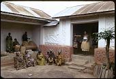 view Shrine house priestess Okomfoyaa Anosua and attendants, Besease, Ghana digital asset: Shrine house priestess Okomfoyaa Anosua and attendants, Besease, Ghana