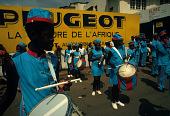 view Marching band performing at Place de la Poste, Lubumbashi, Congo (Democratic Republic) digital asset: Marching band performing at Place de la Poste, Lubumbashi, Congo (Democratic Republic)