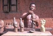 view Bronze caster among the Bini people, Benin City, Nigeria digital asset: Bronze caster among the Bini people, Benin City, Nigeria