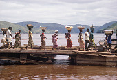 view Congolese people embarking on a ferry before crossing the Congo River, near Matadi, Congo (Democratic Republic) digital asset: Congolese people embarking on a ferry before crossing the Congo River, near Matadi, Congo (Democratic Republic)