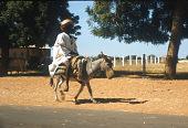 view Hausa man riding donkey, near Sokoto, Nigeria digital asset: Hausa man riding donkey, near Sokoto, Nigeria